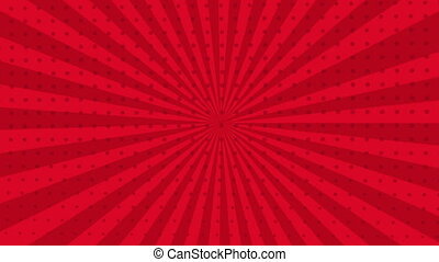 Red background Video animation - Red rotation background,...