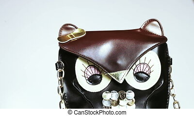 Bag in form owl - Rotating bag in form of an owl