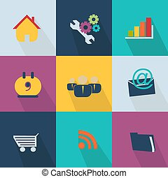 Business icon - style web 20 colorful