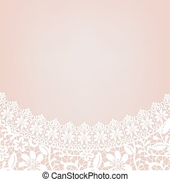 lace bridal dress - Card with decollete of white lace bridal...