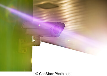 Industrial CCTV Security Camera with Sun Flare - Industrial...