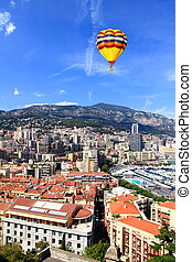 Aerial view of Monte-Carlo Monaco - Aerial view of downtown...