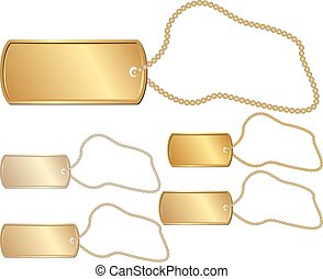 Drukowanie - set of isolated golden identity tag