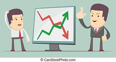 Businessman Presenting Business Growth Chart - a man at the...