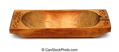 old wooden trough