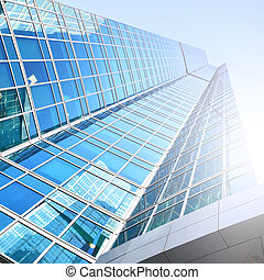 Modern building - Modern office building with reflections