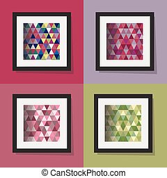 colorful triangle frame patterns