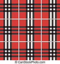 Trendy red seamless plaid pattern