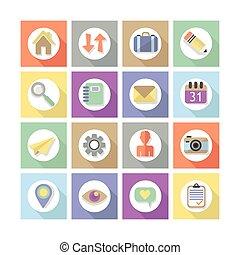 Modern flat web design icons, Set 2 - Modern flat web design...
