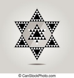 Abstract geometrical triangle icon - Abstract geometrical...