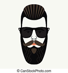 Cool beard hipster mysterious male - Cool beard hipster male...