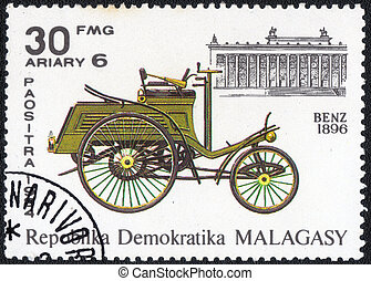 postage stamp - MALAGASY - CIRCA 1984: stamp printed by...