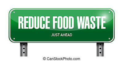 reduce food waste post sign concept illustration design over...