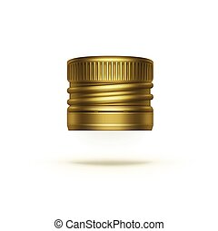 Vector Screw Bottle Cap Isolated on Background - Vector...