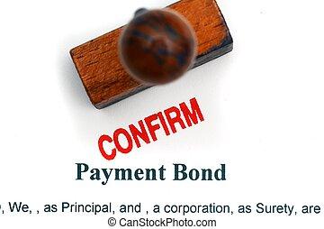 Payment bond - confirm
