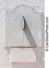 Sundial, St Mary Anglican Curch, Stellenbosch - Sundial with...