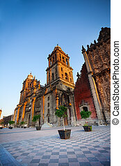 Mexico City Metropolitan Cathedral - View of Mexico City...
