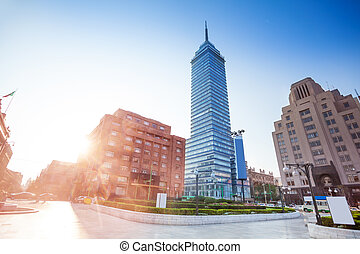 Torre Latinoamericana and Juarez avenue, Mexico - Torre...