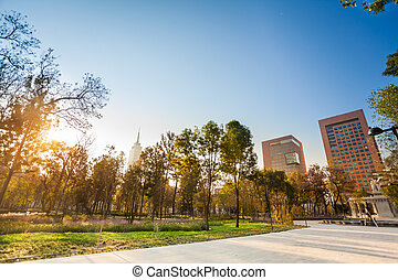 Central Alameda park in Mexico city downtown - Central...