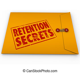 Retention Secrets Yellow Envelope Retain Employees Customers...