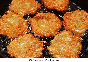 frizzle potato pancakes - potato pancakes frizzle in black...