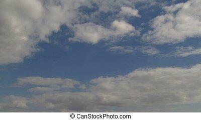 Sunny day timlapse Clouds run UHD 4K