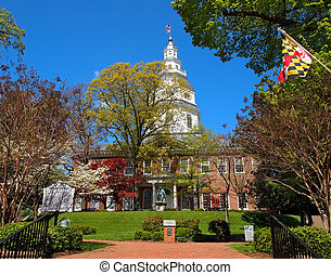 Maryland State House - ANNAPOLIS, MD - APRIL 29, 2015: The...