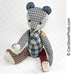 Bear patchwork put on white - teddy Bear patchwork put on...