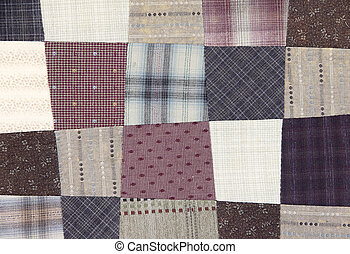 Patchwork Quilt , pattern free form rectangle