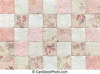 patchwork, Colcha, básico, Padrão,