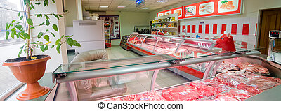 Interior butcher shop