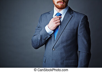 Gentleman - Close-up of young bearded man in elegant suit
