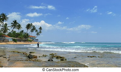 beach in Hikkaduwa - Sri Lanka