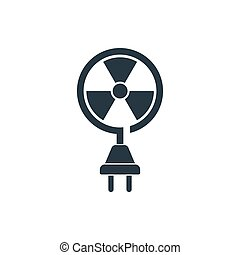 atomic energy icon - nuclear energy icon