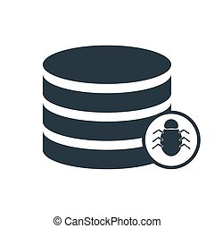 data hdd bugs icon - bug database icon