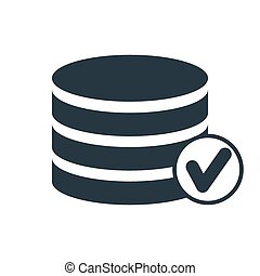 data hdd marck icon - selected database icon