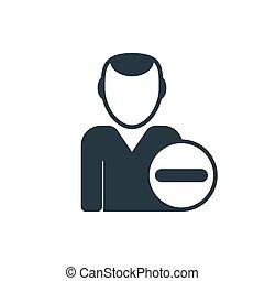 delete man icon - remove user icon