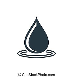 drop wawe rings icon - water drop icon