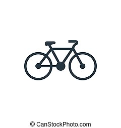 icon bicycle profile - bicycle sign icon