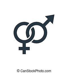 icon man and woman sign - Male and Female icon