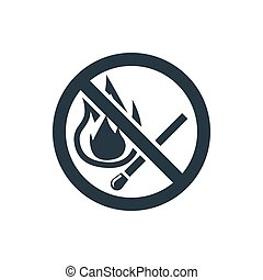 icon no fire - no fire sign icon