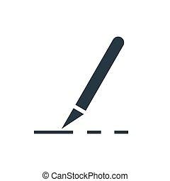 icon scalpel - Scalpel cut icon