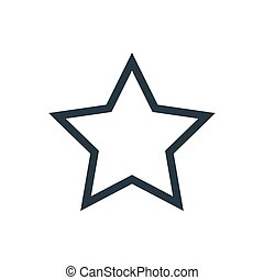 star outline - outline star icon