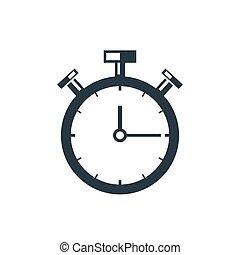 cronómetro, icono,