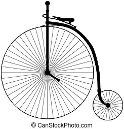 Penny Farthing Bicycle - Illustration of an antique Penny...