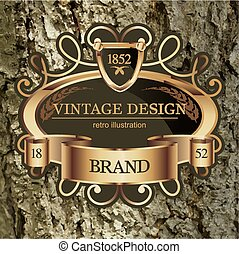 Vintage Lable frame for Business Identity, Restaurant,...