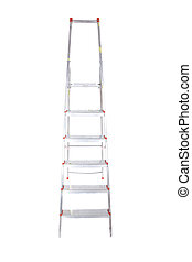 stepladder - one stepladder on white background