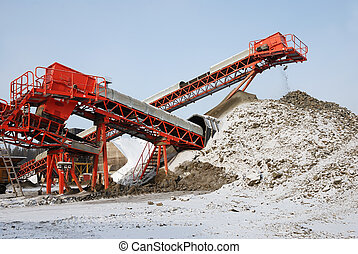 stone quarry - making of crushed stone at stone quarry in...