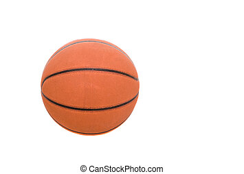 basketball - orange basketball on white background