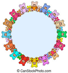 ring out of teddy bears - ring out of colorful teddy bears